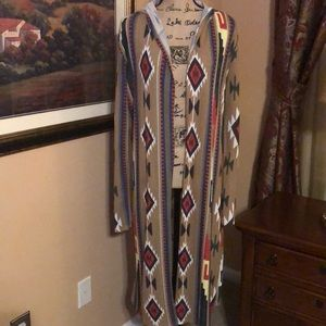 Poof over piece/cardigan size Large